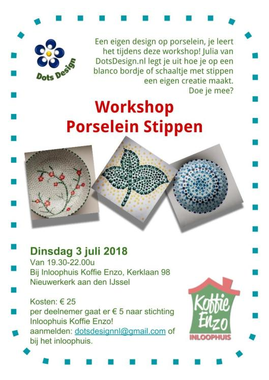 Workshop Porselein Stippen